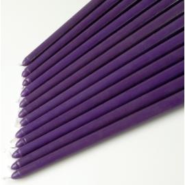"12"" Purple Taper Candles (1 Dozen)"
