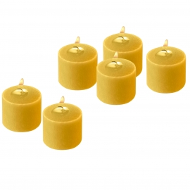 Yellow Unscented Votive Candles 10 Hour set of 12
