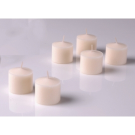 Ivory Unscented Votive Candles 10 Hour set of 12