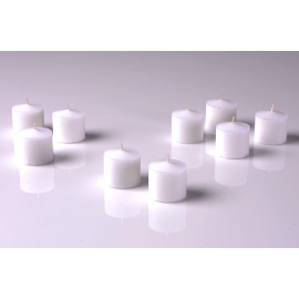 White Unscented Votive Candles 10 Hour set of 12