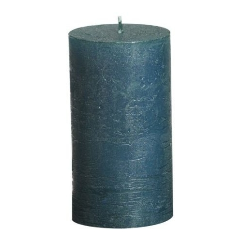 Turquoise metallic pillar candle higlowcandles for Shimmer pillar candle