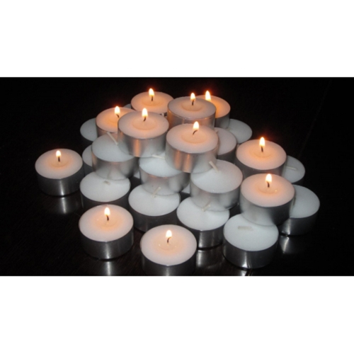 HIGLOW Tealight Candles Unscented Extended Burn Time 7 Hour Highest Quality Smokeless White Tea Lights Set of 100