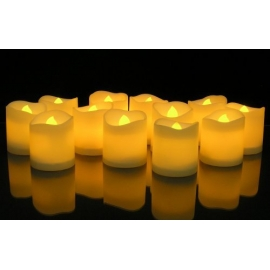 LED Votive Lighted Flickering Candles set of 6